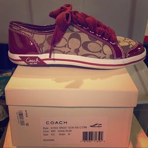 Women's Authentic Coach Sneakers. Barely worn!